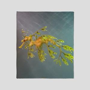 Leafy Seadragon Throw Blanket