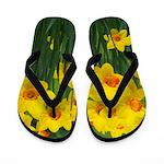 Yellow and Orange Daffodils Flip Flops