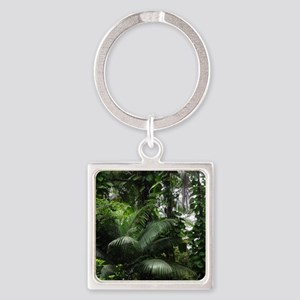 Tropical Rainforest Square Keychain