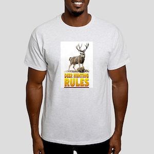 DEER HUNTING RULES Ash Grey T-Shirt