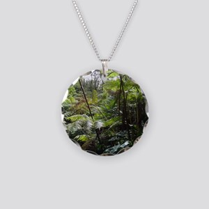 Tropical Jungle Necklace Circle Charm