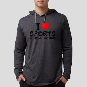 I Love Sports Communications Mens Hooded Shirt