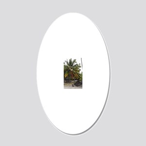 Palms 20x12 Oval Wall Decal