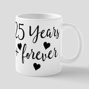 25th Anniversary Couples Gift Mugs