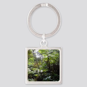Tropical Jungle Square Keychain