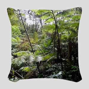 Tropical Jungle Woven Throw Pillow