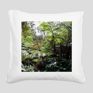 Tropical Jungle Square Canvas Pillow