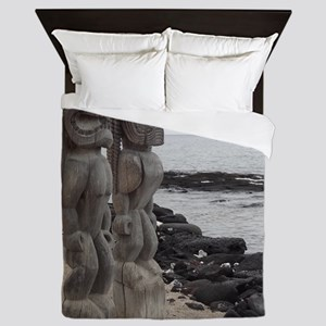 Place of Refuge Tikis Queen Duvet