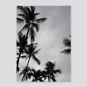 Palm Trees Silhouette 5'x7'Area Rug