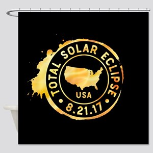 American Eclipse Shower Curtain
