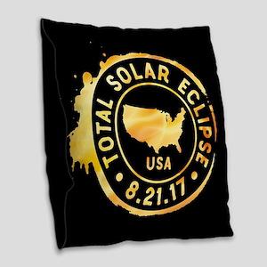 American Eclipse Burlap Throw Pillow