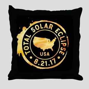 American Eclipse Throw Pillow