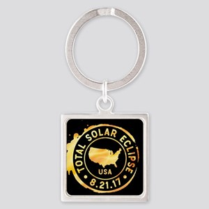 American Eclipse Square Keychain