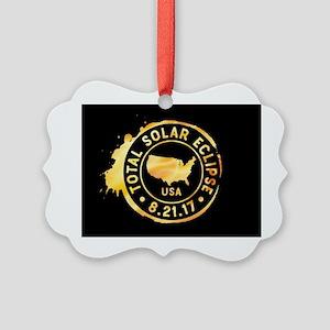 American Eclipse Picture Ornament