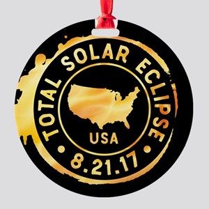 American Eclipse Round Ornament