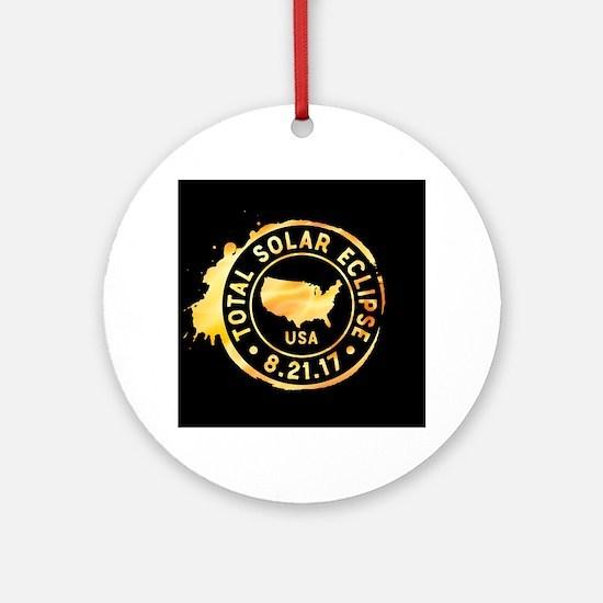 American Eclipse Round Ornament