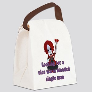 Little Vampire Personal Ad Canvas Lunch Bag