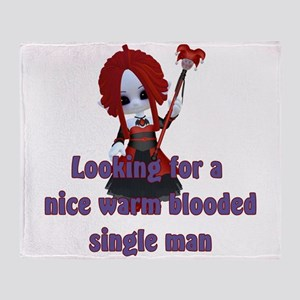 Little Vampire Personal Ad Throw Blanket