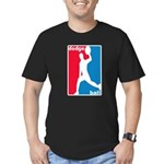 Dodgeball Association Men's Fitted T-Shirt (dark)