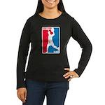 Dodgeball Association Women's Long Sleeve Dark T-S