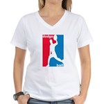 Dodgeball Association Women's V-Neck T-Shirt