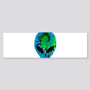 Tie Dye Alien Bumper Sticker
