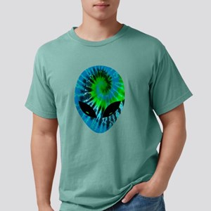 Tie Dye Alien Mens Comfort Colors Shirt