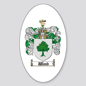 Wood Coat of Arms Family Crest Oval Sticker