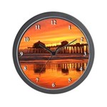 Huntington Beach Sunset Wall Clock #3