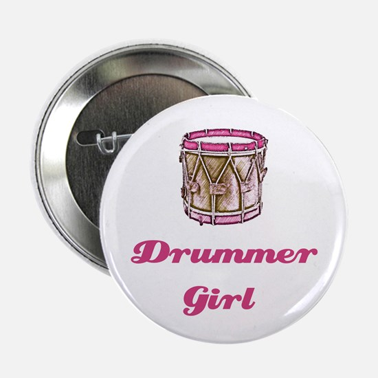 Drummer Girl Button