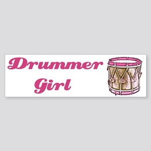 Drummer Girl Bumper Sticker