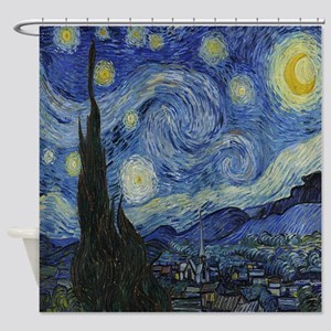 The Starry Night Shower Curtain
