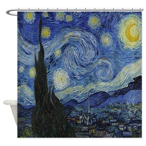 Starry Night Shower Curtains