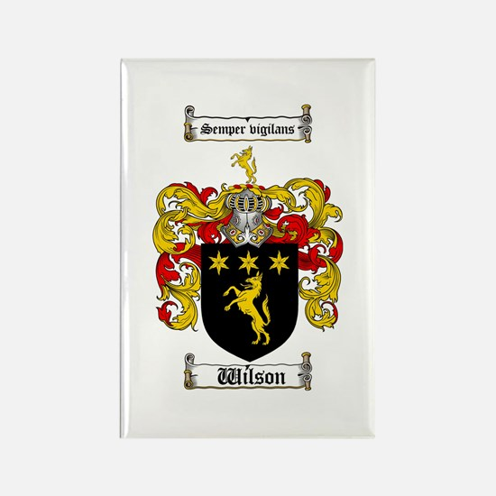 Wilson Coat of Arms Family Crest Rectangle Magnet