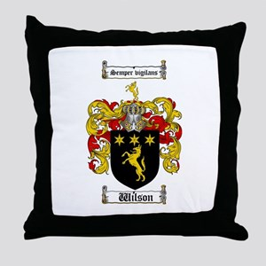 Wilson Coat of Arms Family Crest Throw Pillow
