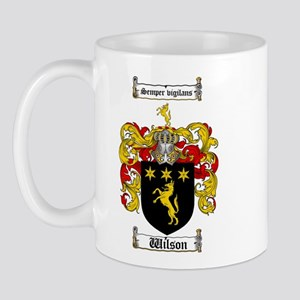 Wilson Coat of Arms Family Crest Mug