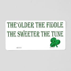 fiddle Aluminum License Plate