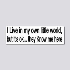 little world Car Magnet 10 x 3