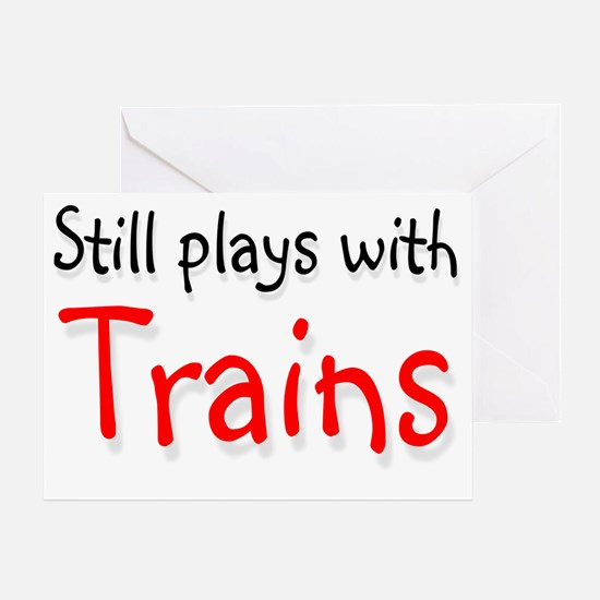 trains Greeting Card