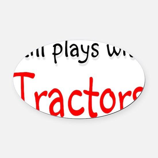 tractors Oval Car Magnet