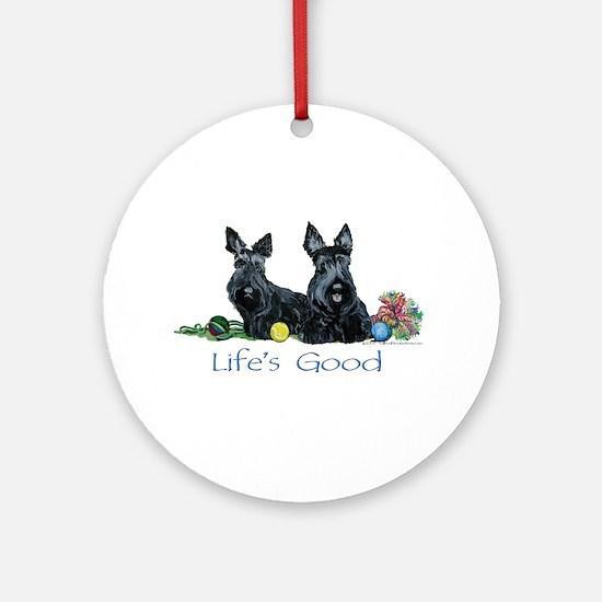 Scottish Terrier Life! Ornament (Round)