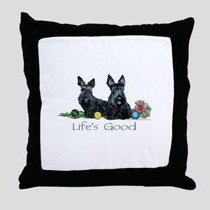 Scottish Terrier Life! Throw Pillow