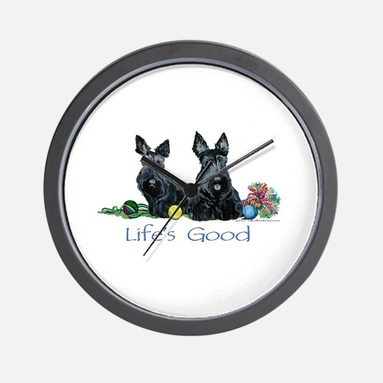 Scottish Terrier Life! Wall Clock