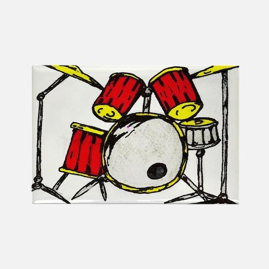 drums Rectangle Magnet