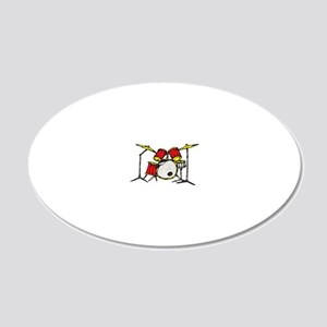 drums 20x12 Oval Wall Decal