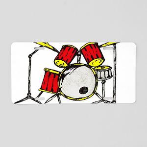 drums Aluminum License Plate