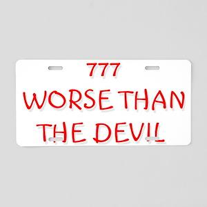 devil Aluminum License Plate