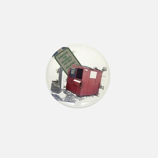 dumpster-black Mini Button
