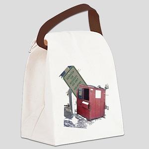 dumpster-black Canvas Lunch Bag