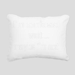 confused-black Rectangular Canvas Pillow